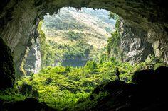 Situé en Chine, le réseau de grottes de Leye-Fengshan Geopark offre 10km de vastes couloirs et de chambres.
