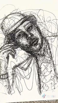 Scary Drawings, Dark Art Drawings, Art Drawings Sketches Simple, Pencil Art Drawings, Black Pen Sketches, Schizophrenia Art, Stylo Art, Surealism Art, Scribble Art