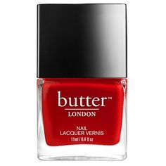 Come To Bed Red Nail Lacquer ($15) ❤ liked on Polyvore featuring beauty products, nail care and nail polish