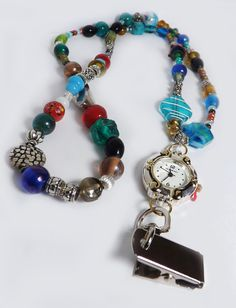 Caribbean Blue and beach color tone Lanyard with vintage glass beads Timepiece Packing List For Cruise, Beach Color, Caribbean, Glass Beads, Trending Outfits, Unique Jewelry, Bracelets, Handmade Gifts, Blue