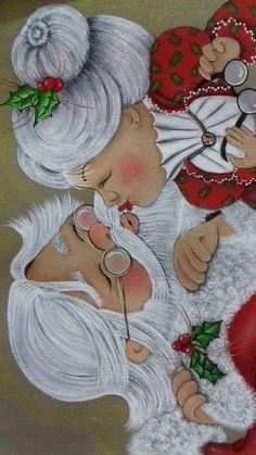 Christmas Rock, Christmas Canvas, Christmas Scenes, Christmas Pictures, Christmas Projects, All Things Christmas, Vintage Christmas, Christmas Holidays, Christmas Decorations