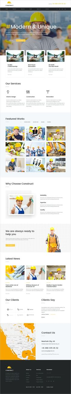 Construct is a wonderful 5in1 responsive #HTML5 #Bootstrap template for #construction company websites download now➩ https://themeforest.net/item/construct-mutilconcept-construction-html5-template/18840218?ref=Datasata