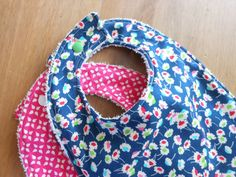 Beautiful Bibs Set of 2 in Pink/Navy  Towel Backed by YumyumHome, £12.00
