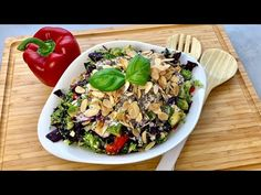 Detox- Salat aus dem Thermomix® (low carb) TM5/TM6 - Thermilicious - YouTube Avocado, Vanille Paste, Low Carb, Cobb Salad, Risotto, Detox, Ethnic Recipes, Youtube, Food