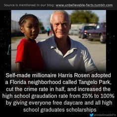 Self-made millionaire Harris Rosen adopted a Florida neighborhood called Tangelo Park, cut the crime rate in half, and increased the high s...