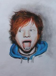 Ed Sheeran drawing - Sketching by Luna Perri at touchtalent 17996