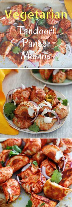 Vegetarian Tandoori Momos K.O Rasoi Indian Appetizers, Indian Snacks, Appetizers For Party, Indian Food Recipes, Vegetarian Recipes, Cooking Recipes, Ethnic Recipes, Tandoori Recipe Vegetarian, Yummy Recipes