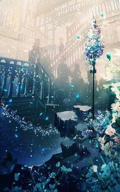 Cool Anime Girl, Beautiful Anime Girl, Anime Art Girl, Anime Places, Sunflower Wallpaper, Anime Artwork, Pretty Wallpapers, Mobile Wallpaper, Landscape Art