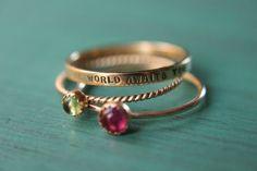 Hey, ho trovato questa fantastica inserzione di Etsy su https://www.etsy.com/it/listing/157066113/2-solid-14k-gold-gemstone-stacking-rings