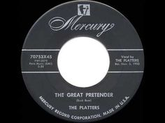1956 HITS ARCHIVE: The Great Pretender - Platters (their original #1 version) - YouTube