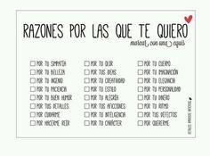 Razones x las q t quiero♥ reasons for that i love you