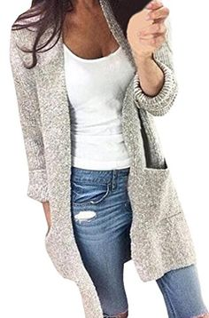Chuanqi Womens Sexy Long Sleeve Knitted Long Cardiagn Sweater Fall >>> Click image to review more details.(This is an Amazon affiliate link)