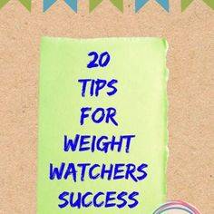 20 Tips for Weight Watchers Success
