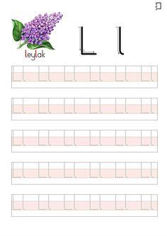 Okuma Yazma Hazırlık Çalışmaları Turkish Language, German Language, Alphabet Worksheets, Kindergarten Worksheets, Preschool Writing, Montessori, Teaching English, Games For Kids, Handwriting