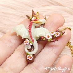 Blue Dragon Necklace Dragon Sakura Miniature Cute Fantasy