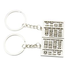FOY-MALL 2PCS Abacus Zinc Alloy Car Keychain for Couple Lovers J1038 *** Wow! I love this. Check it out now! : Valentine Gifts