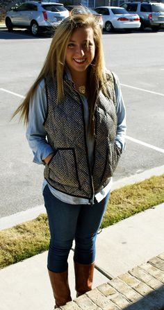 alright hi J. Crew, I'm kinda obsessed with your herringbone vest..gimme gimme