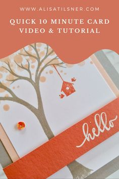 Video & PDF Tutorial: Stampin' Up! Life is Beautiful - You grab the free PDF Tutorial over on my Blog, and watch the video while you're there!