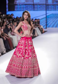 Kalki Bridal 2018 Lehenga retails between INR to INR Lakhs. Check out the full collection with prices here. Sarees, fusion wear all included. Pink Bridal Lehenga, Designer Bridal Lehenga, Indian Bridal Lehenga, Pink Lehenga, Indian Bridal Outfits, Indian Bridal Fashion, Indian Designer Outfits, Asian Fashion, Lehnga Dress