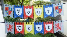 Knights Party Ideas - Printable Banner via SIMONEmadeit.com