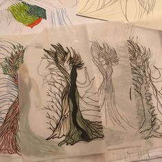 """The """"behind the scene"""" of creating Daphne in """"Creation of Laurel Tree"""" available at sSCAPESs.etsy.com Laurel Tree, Behind The Scenes, Embellishments, Landscape, My Favorite Things, Drawings, Illustration, Etsy, Art"""