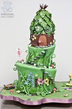 Edible Fairy Birthday Cake