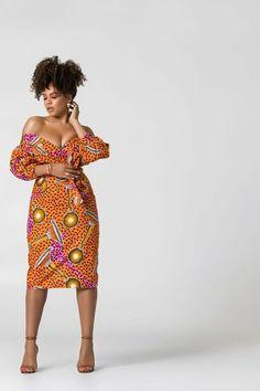 African Print Jaiyesimi Midi Dress