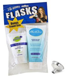 Hand Creme/Hand Sanitizer Hidden Flask Combo Pack with Funnel
