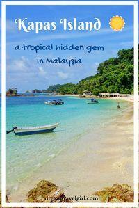 Kapas Island (Pulau Kapas) is an island on the eastern coast of Malaysia. Beautiful beaches, relaxing and not crowded, a tropical hidden gem.