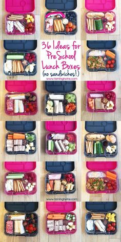 Lunchbox Ideas for PreSchoolers - with no boring sandwiches! Inspiration for more interesting pack ups for kids