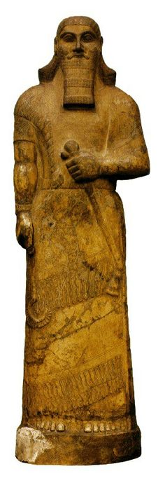 Assurnasirpal II, 883-859 a.C., Museu Britânico, Londres.