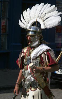 Roman centurion with impressive feathers