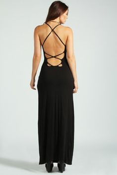 Tilly Strappy Back Detail Maxi Dress at boohoo.com