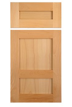 Shaker style cabinet door in select beech with offset center rail, style by TaylorCraft Cabinet Door Company Shaker Style Cabinet Doors, Cabinet Door Designs, Cabinet Door Styles, Shaker Cabinets, Craftsman Kitchen, Panel Doors, The Selection, Kitchens, Entertaining