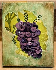 Button Art Tutorial cool for my bathroom that is vineyard theme'd
