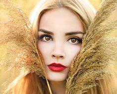 Golden Girl by Aleksandra Nikolic on Pretty Females, Beauty Portrait, Woman Face, Beautiful Eyes, Swan, Model, Color, Fashion, Beauty