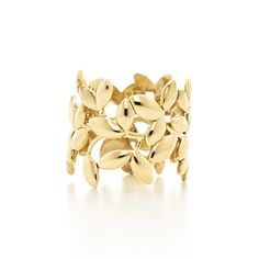 Tiffany & Co. | Item | Paloma Picasso® Olive Leaf band ring in 18k gold. | United States