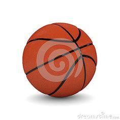 3d rendered basketball  on white background