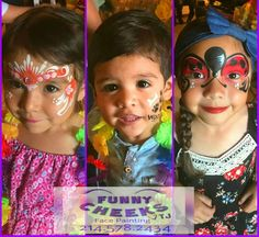 Birthday Party Fun by Funny Cheeks Face Painting  Dallas professional face painter  #FunnyCheeksTJ #FunnyCheeksDallas #DallasFacePainter #dfwfacepainter #facepainting