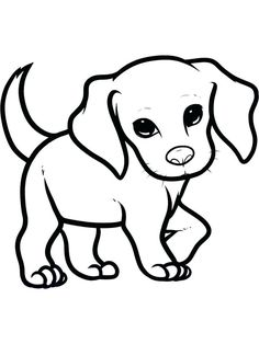 Here you find the best free Puppy Coloring Pages Easy collection. You can use these free Puppy Coloring Pages Easy for your websites, documents or presentations. Easy Animal Drawings, Easy Drawings Sketches, Easy Drawings For Kids, Animal Sketches, Cute Drawings, Simple Drawings, Puppy Drawing Easy, Dog Face Drawing, Drawing Eyes