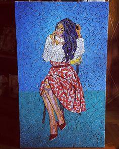 Reminiscing (model: @__anja________ ) . . . #mosaic #mosaicportrait #mosaique #mosaics #mozaik #mosaicart #mozaika #mosaico #myart #art #artistsoninstagram