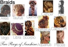 Style of Braids for the Zodiac Signs. Cancer Zodiac Sign♋