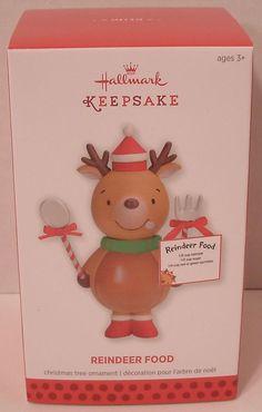Hallmark Ornament 2013 Reindeer Food NIB NEW Recipe for Christmas Eve Holiday