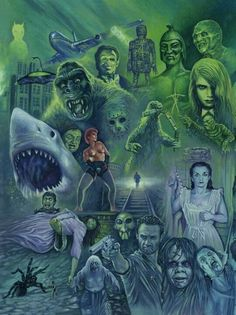 """An Art Edit  Of Classic  Horror Great""""s ."""