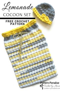 Free crochet pattern for textured baby cocoon blanket 38ab51079099