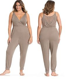 daad24697fc LANE BRYANT TRU TO YOU LACE BACK JUMPSUIT LOUNGER ROMPER PJS PLUS SIZE 22 24