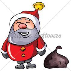 Cartoon Santa With A White Beard.Isolated On White Christmas Cartoon Pictures, Christmas Cartoons, Cartoon Pics, Santa, Fictional Characters, Fantasy Characters