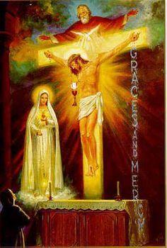Virgen de Fátima / 13 de Junio / Año: 1929 / Lugar: Tuy, Galicia, España / Aparición de la Virgen a Sor María Lucía de Jesús Dos Santos (1907-2005).