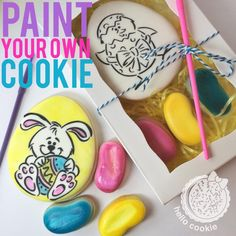 Easter Paint your own cookie   Cookie Connection www.facebook.com/hellocookiejen