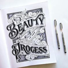 Beauty by @briannaailie #Designspiration #lettering #creative #inspiration